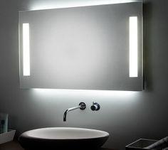 espejo con luz ambiental led e iluminacion frontal t mi capricho home