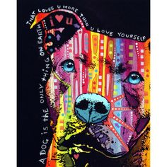 Thoughtful Pit Bull by Dean Russo