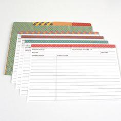 Free downloadable recipe cards / DIY – Tarjetas para recetas de cocina Imprimibles y ¡Gratis!