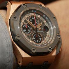 Audemars Piguet Royal Oak Offshore Michael Schumacher limited watch in gold.