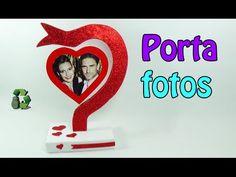 Manualidades San Valentin: Cómo hacer un porta foto corazón. Heart photo holder. - YouTube