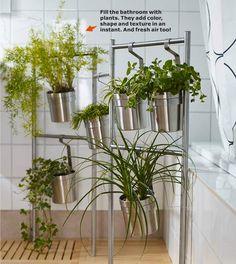 Refresh your bathroom with #IKEA GRUNDTAL caddies!