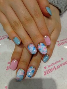 Really Cute For The Spring Time! Just Might Consider Gettin This Done! :)  Water Marble Mani  | See more nail designs at http://www.nailsss.com/nail-styles-2014/