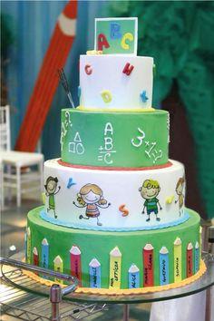 Thank You Cake, Farewell Cake, Bolo Moana, Teacher Cakes, School Cake, Cake Decorating Designs, 2 Birthday Cake, Dessert Decoration, Love Cake