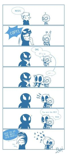 Deadpool drew this Spideypool, Superfamily, Funny Marvel Memes, Dc Memes, Marvel Jokes, Marvel Venom, Marvel Dc Comics, Marvel Heroes, Deadpool X Spiderman