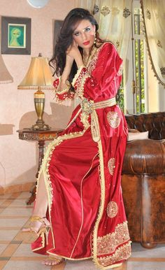 Red Moroccan Caftan