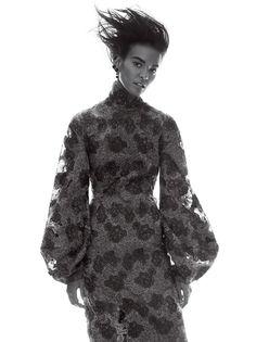 Liya Kebede By David Sims For Us Vogue September 2015: myfashion_diary