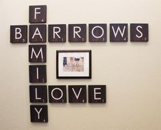 Family Wall Art: Scrabble Edition | Jane