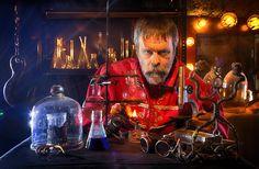 химическое стекло и спиртовка