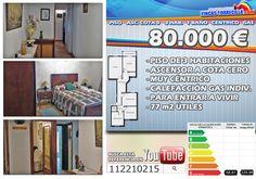 Piso en venta en Miranda de Ebro de 3 habitaciones más salón, un baño, despensa, calefacción de gas individual y ascensor a cota 0. www.fincastorrecilla.com