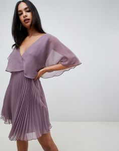 Find the best selection of ASOS DESIGN flutter sleeve mini dress with pleat skirt. Shop today with free delivery and returns (Ts&Cs apply) with ASOS! Fall Engagement Parties, Engagement Party Dresses, Best Prom Dresses, Nice Dresses, Short Dresses, Event Dresses, Summer Dresses, Midi Dress With Sleeves, Little White Dresses