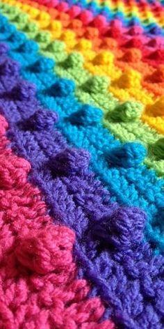 ~ Ʀεƥɪאאεð вƴ ╭•⊰✿ © Ʀσxʌאʌ Ƭʌאʌ ✿⊱•╮ Manta Crochet, Crochet Baby, Knit Crochet, Crochet Blankets, Blanket Yarn, Crochet Afghans, Crochet Motifs, Crochet Stitches, Crochet Patterns