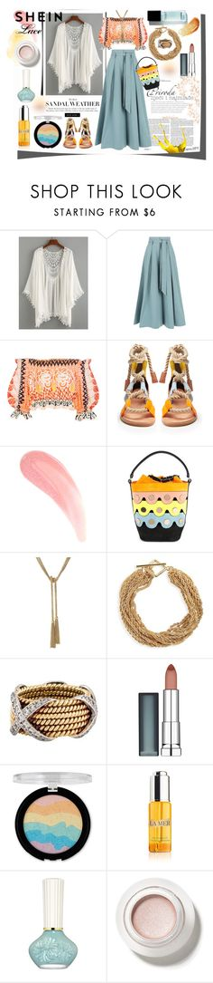 """""""SHEIN Lace"""" by emperormpf ❤ liked on Polyvore featuring Temperley London, Pierre Hardy, Halogen, Maybelline, Forever 21, La Mer and Paul & Joe"""