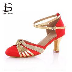 2017 New Arrivals Women Ladies Girl Ballroom Latin Dance Shoes High Heel Soft Sole Professional Tango Salsa Jive Dancing Shoes