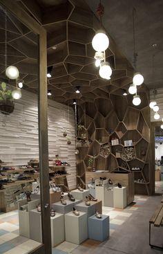 tamara-brazdys-stores-by-plasma Inspiration für Solits, www. Shoe Store Design, Retail Store Design, Retail Stores, Commercial Design, Commercial Interiors, Design Comercial, Store Interiors, Store Fixtures, Retail Interior