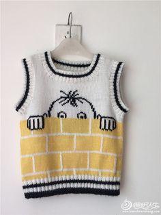 男童棒针背心 Knitting Patterns, Knitting Designs, Knitting For Beginners. Baby Knitting Patterns, Baby Sweater Patterns, Baby Boy Knitting, Knitting For Kids, Knitting Designs, Baby Patterns, Baby Pullover Muster, Knitted Baby Cardigan, Knit Baby Sweaters