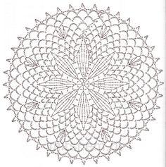 схемы вязания крючком круглых