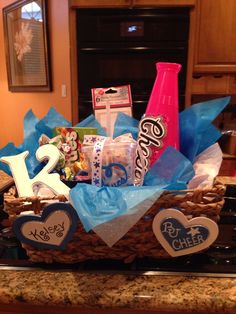 Cheer Gift Baskets! Turned out super cute! :)