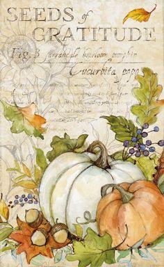 Decoupage Vintage, Decoupage Paper, Autumn Crafts, Autumn Art, Fall Canvas Painting, Pumpkin Coloring Pages, Autumn Illustration, Pintura Country, Bee Art