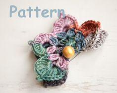 Crochet 3D butterfly brooch by SashaPattern on Etsy, $2.50
