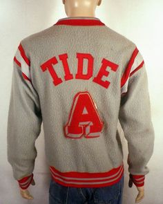 0c232b83c2e vtg 50s Champion Alabama Crimson Tide Letterman Jacket Warmup namath bryant  era
