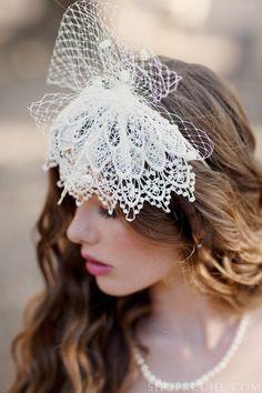 Lace & Lavender: lace #bridal hairpiece