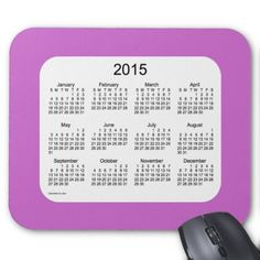 2015 Calendar by Janz Orchid and White Mousepad Mousepad
