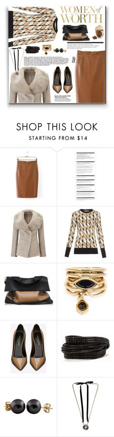 """""""Party Yoins Win this skirt! or $30!!!"""" by ceci-alva ❤ liked on Polyvore featuring Arche, Pure Collection, Sportmax, Marni, Eddie Borgo, Yves Saint Laurent, Pieces, Splendid Pearls, Lanvin and women's clothing"""