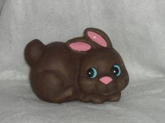 Brown Bunny Ceramic Figurine by StampersCraftsGifts on Etsy, $15.00