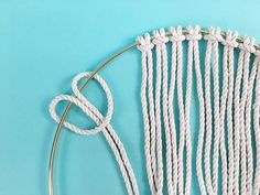DIY: Brass Ring Macrame Dream Catcher - Have you been bitten by the macrame bug? We love it here at Brooklyn Craft Company, not just because we have to do all the crafts but also because we . Macrame Rings, Macrame Cord, Macrame Supplies, Macrame Projects, Diy Projects, Macrame Wall Hanging Diy, Macrame Design, Macrame Tutorial, Macrame Patterns