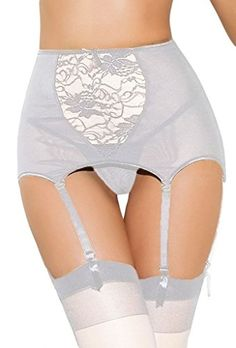 bd87ff0a28afd Women Sexy Lingerie high waist Lace stocking Belt sexy suspender lingerie  bustier vintage Goth XL XXL White Garter plus Size