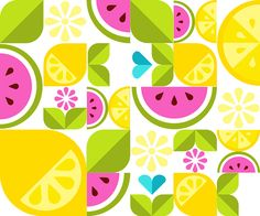 In this tutorial we'll create a delicious  fruit vector design from basic shapes and create a dynamic composition perfect for print and web media alike!