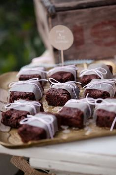 Delicious Decorated Brownie Bites Ideal For A Dessert