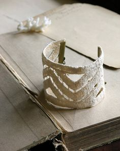 Chevron lace cuff bracelet -- gorgeous!