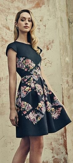 Embroidered collared dress - Black | Dresses | Ted Baker UK