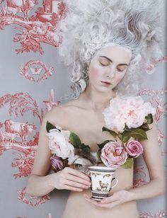 ❀ Flower Maiden Fantasy ❀ beautiful photography of women and flowers - Marie Antoinette inspired Marie Antoinette, Burlesque, Boudoir, Rococo Fashion, Rococo Style, Black And White Photography, Eat Cake, Editorial Fashion, Fashion Photography