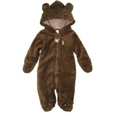 KVbaby Baby Winter Warm Jumpsuit Infant Rabbit Animal Romper Cute Outfit Hooded One-Piece with Zipper Front