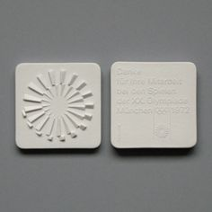 Otl Aicher and the 1972 Munich Olympics/ Ceramic Medal - Thank You Identity Design, Brochure Design, Visual Identity, Otl Aicher, Olympic Medals, Olympic Games, Event Branding, Print Layout, Graphic Design Posters
