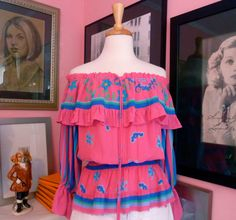 Vintage 1980s Diane Fres Peasant Top Off the by LucyTakesaTrip, $57.00