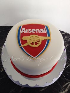 Arsenal Cake - by Mari's Boutique cakes Soccer Birthday Cakes, Birthday Cake For Him, Dessert Quotes, Xbox Cake, Sport Cakes, Big Cakes, Novelty Cakes, Cakes For Boys, Cake Creations