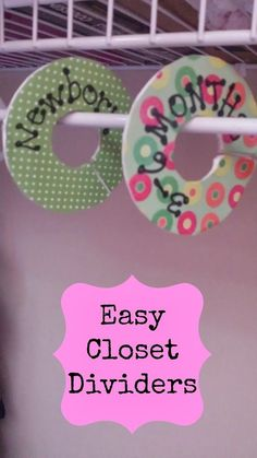 Closet Dividers so simple great for your baby's closet or a gift! - Pink Oatmeal