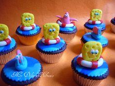 Spongebob Themed cupcakes