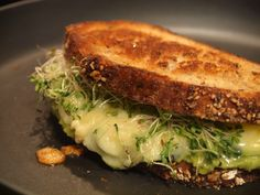 Jimmy John's Inspired Avocado & Alfalfa Sprouts Grilled Cheese~grilledshane