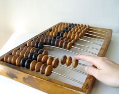 Huge Wood Abacus Vintage 18 inches Russian USSR Soviet Industrial old time Computer Rustic Wooden Calculator Steampunk Office decor on Etsy, $37.00