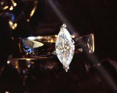 1/2 Carat Marquise cut Diamond hand made by WatertonJewelry, $2000.00