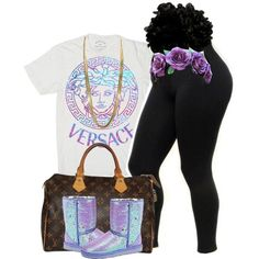 Versace. by beautifulme078 on Polyvore featuring Louis Vuitton and UGG Australia
