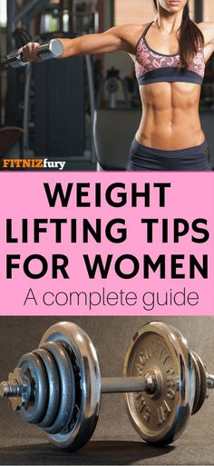 Weight lifting tips for women. A complete guide. #weightliftingwomen #strengthtraining #leanmuscle