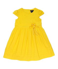 Love this Yellow Tiered Cap-Sleeve Dress - Toddler & Girls by Periwinkle on #zulily! #zulilyfinds
