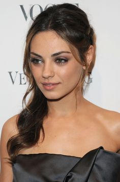Mila Kunis hair and makeup for this look