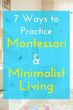Montessori & minimalist living compliment each other perfectly. If you're ready to start practicing one or the other you can find 7 helpful ways to get started right here! Montessori Practical Life, Montessori Homeschool, Montessori Classroom, Montessori Toddler, Montessori Activities, Toddler Preschool, Learning Activities, Gentle Parenting, Parenting Advice